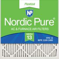 Nordic Pure 18x18x1 MERV 13 Pleated AC Furnace Air Filters 12 Pack