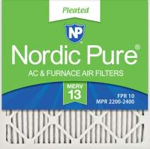 Nordic Pure 16x16x1 MERV 13 Pleated AC Furnace Air Filters 6 Pack