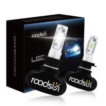 H7 LED Car Headlight Bulbs 6500K Cool White 50W 8000LM CSP Chips Conversion Kit Fanless IP68 Waterproof