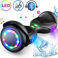 """TOMOLOO Hoverboard with LED Lights Two-Wheel Self Balancing Scooter with UL2272 Certified, 6.5"""" Wheel Electric Scooter for Kids and Adult"""