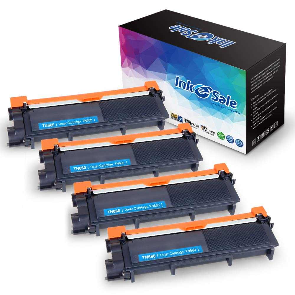 INK E-SALE Compatible Toner Cartridge Replacement for Brother TN660 TN630 (Black, 4-Pack),use for Brother MFC-L2700DW HL-L2340DW HL-L2300D HL-L2380DW DCP-L2540DW DCP-L2520DW MFC-L2740DW MFC-L2720DW