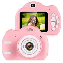 """ZEEPIN Kids Camera, 1080P Rechargeable Children Digital Video Cameras with 2.4"""" Color LCD Screen Great Gifts for 4-8 Year Old Girls to Play, Pink(16GB Memory Card Included)"""