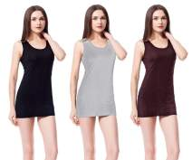 Extra Basic Cotton Long Stretch Tank Tops Ribbe