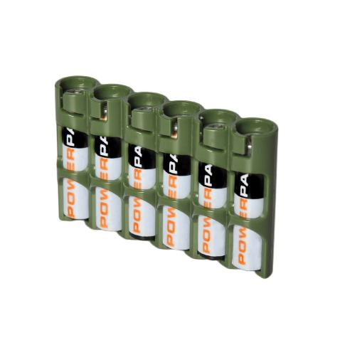 Storacell By Powerpax Slimline Aaa Battery Caddy Military Green Holds 6 Batteries