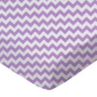 SheetWorld Fitted Crib / Toddler Sheet - Lilac Chevron Zigzag - Made In USA