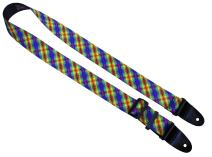 Killer-Q Guitar Strap - Stylish Straps for Electric and Acoustic Guitars, Made in USA - 2 Inches x 5 Feet - Calico Rainbow