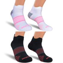 AUDTOPEM Ankle Compression Running Socks for Men & Women (2/3 Pairs)
