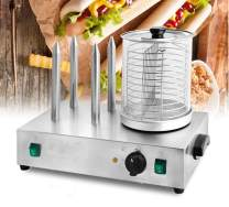 INTBUYING Hot Dog Machine Steamer Roller Cooker Bun For Commercial Maker Warmer