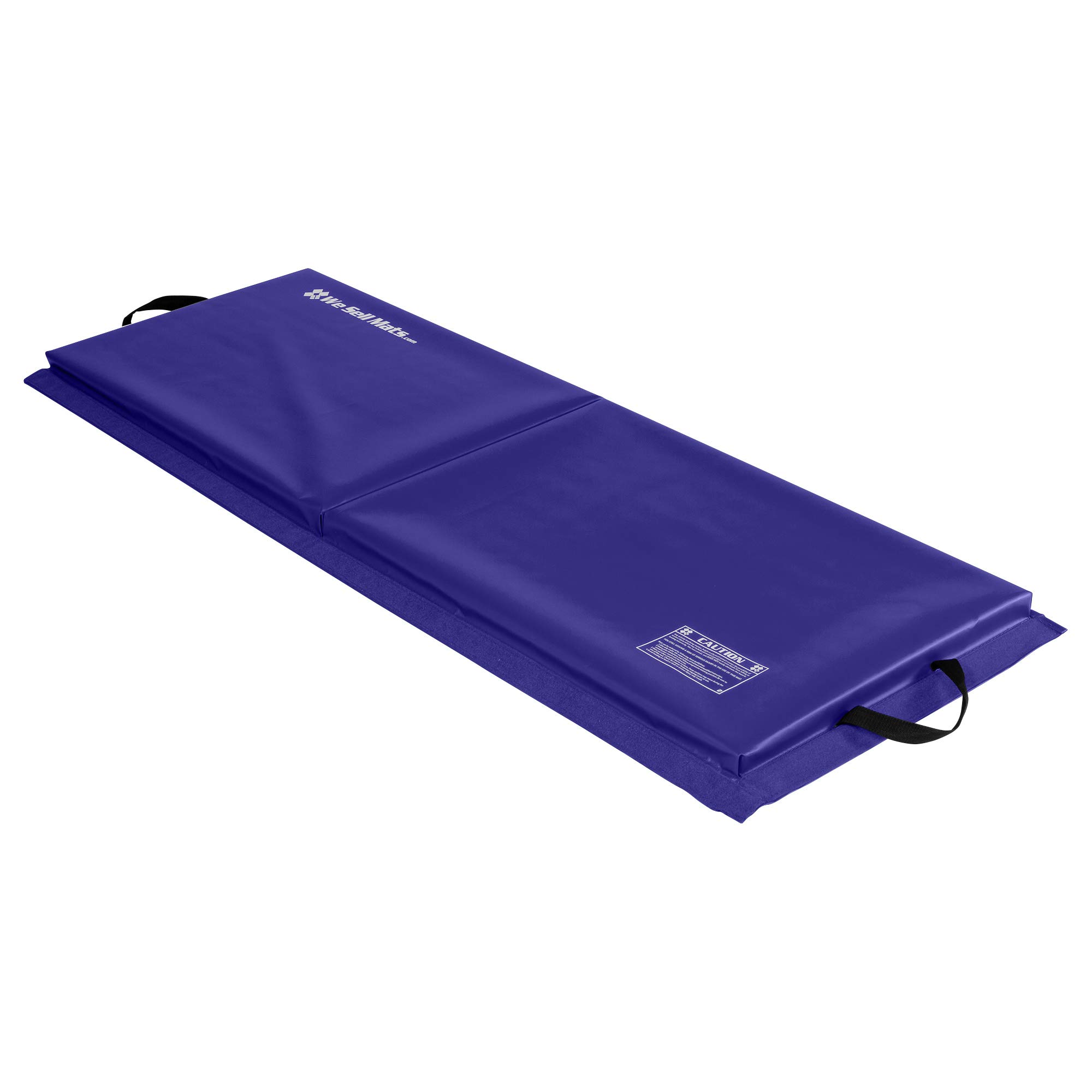 We Sell Mats 2 ft x 6 ft x 2 in Fitness & Exercise Mat, Portable with Hook & Loop Fasteners, Lightweight and Folds for Carrying
