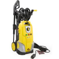 XtremepowerUS Electric Pressure Washer w/Hose Reel Jet Wand Nozzle Adapter Built-in Soap Dispenser 2000 PSI 1.7 GPM, Yellow