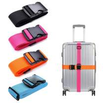 LSYCG 4 Pack Luggage Straps, Suitcase Belts Heavy Duty Luggage Belts - Adjustable Suitcase Straps Travel Accessories Bag Bungee