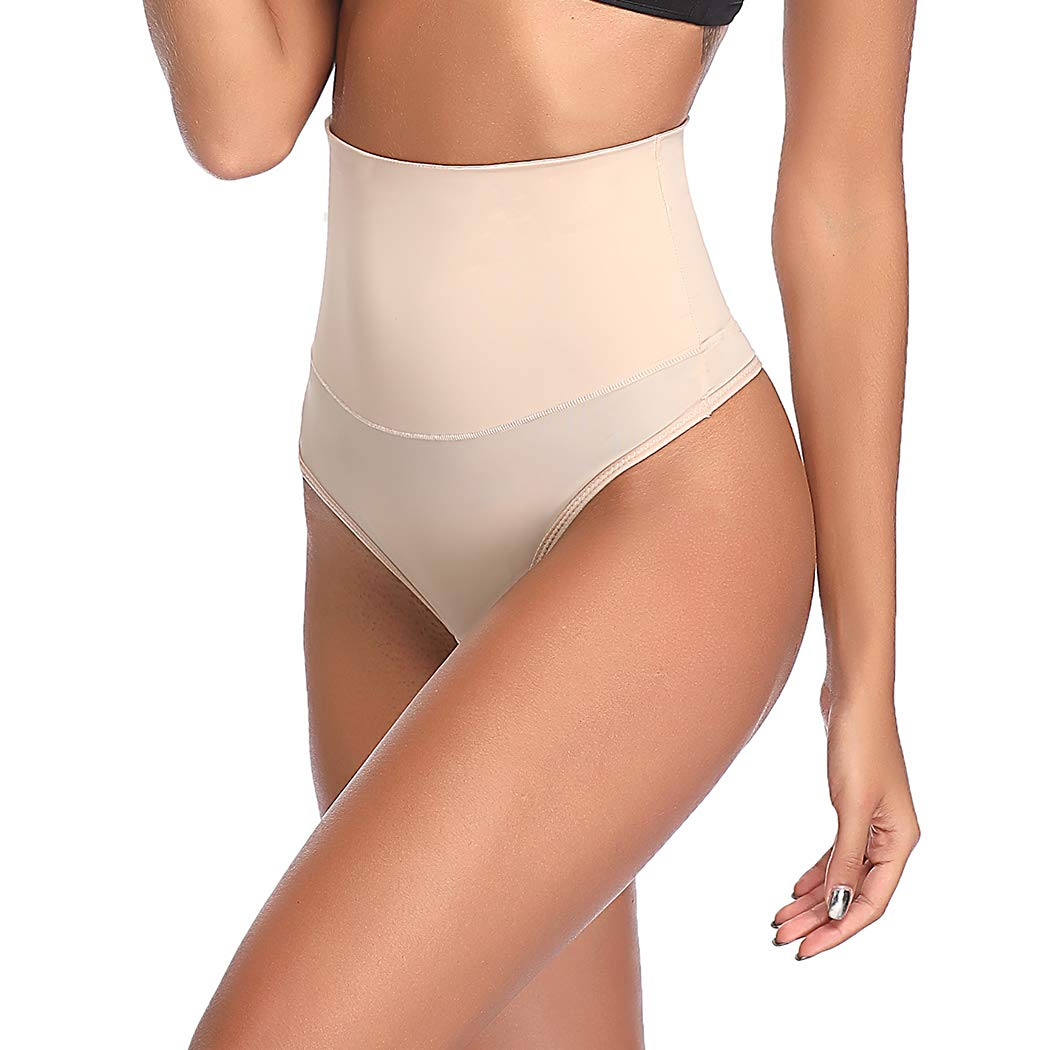 Thong Shapewear for Women Tummy Control Seamless High Waist Thongs Panties Underwear Slim Body Shaper