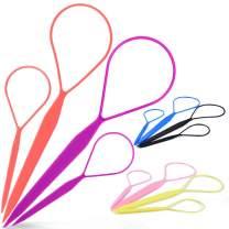 Topsy Tail Tool,MORGLES 12pcs Hair Braid Tools Topsy Tail Maker,Hair Loop Styling Tool Topsy Twist Hair Tool Set