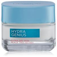 Hyaluronic Acid Moisturizer for Face, L'Oreal Paris Skincare Hydra Genius Daily Liquid Care Oil-Free Face Moisturizer for Extra Dry Skin with Aloe Water and Hyaluronic, 3.04 fl. oz.