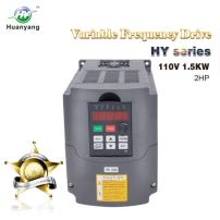 VFD 110V Input 1.5KW 2hp Variable Frequency Drive CNC Drive Inverter Converter for 3 Phase Motor Speed Control (1.5KW, 110V)