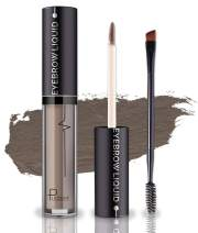 Waterproof Eyebrow Gel, Long Lasting Smudge-Proof Liquid Brow Makeup Tint, Brow Shaper with Mascara Primer Brush Wand Kit Mother's Day Gift (Color-Ash Brown)