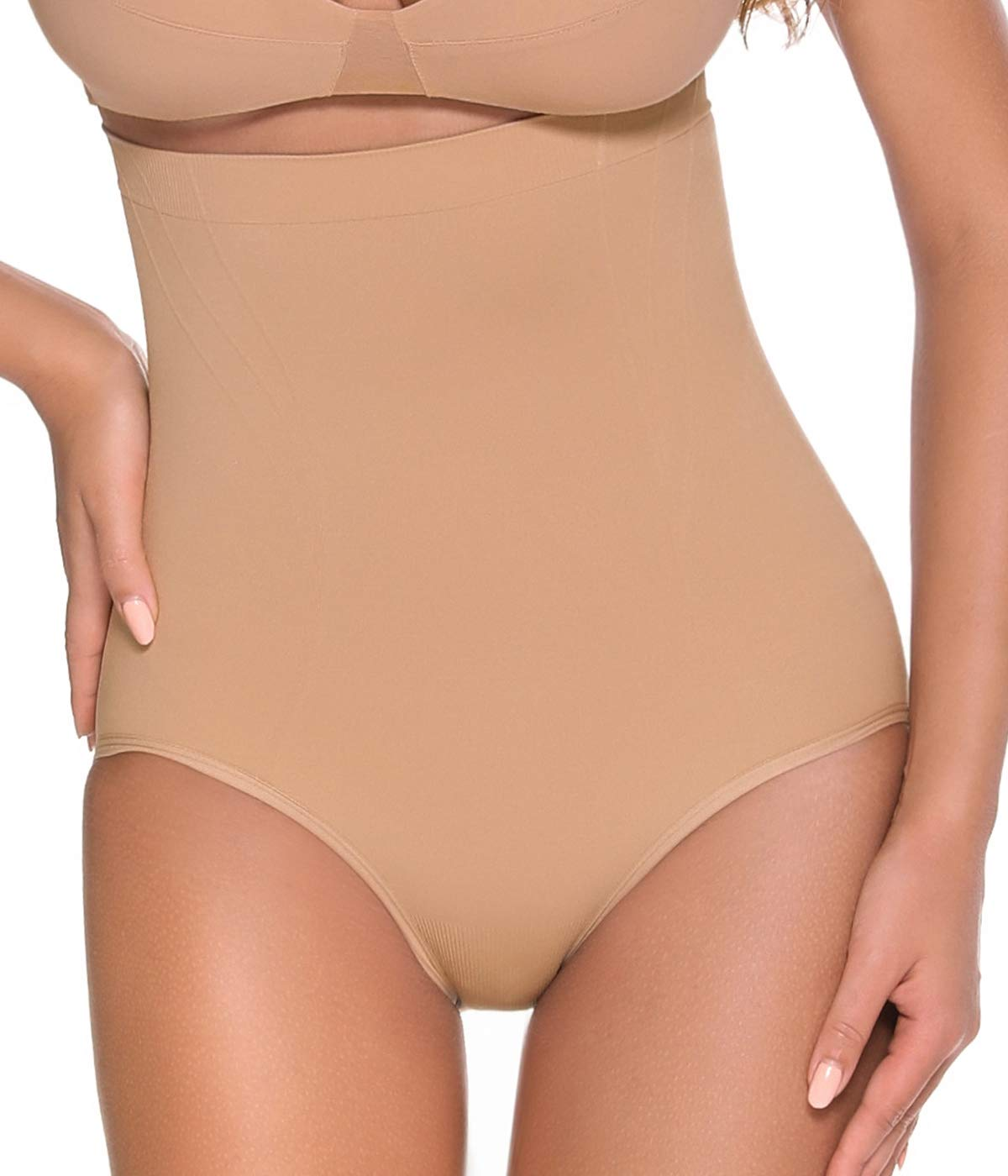 Vaslanda Women High Waist Body Shaper Firm Tummy Control Shapewear Panties Butt Lifter Briefs Seamless Panty Girdle Underwear