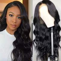RHAH Glueless Body Wave Full Lace Wigs Brazilian Virgin Wet and Wavy Human Hair Wigs Pre Plucked Blezached Knots 180% Density Full Lace Wig with Baby Hair 18Inch