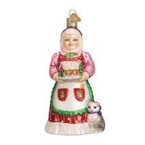 Old World Christmas Assortment of Santas Glass Blown Ornaments for Christmas Tree Mrs. Claus