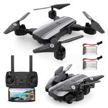 RAGU 1080P Foldable RC Drone, SX20 2.4GHz Remote/Phone/Tablet Controlled RTF Quadcopter with 120° Wide-Angle Full HD Camera Video Headless RTH 360° Flip