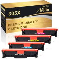 Arcon Compatible Toner Cartridge Replacement for HP 305A 305X CE410A CE410X for HP Laserjet Pro 400 Toner M451dn M451nw MFP M476nw M476dw M375nw M475dn Printer (Black Cyan Magenta Yellow, 4-Pack)