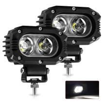 2 pcs LED Pod Lights Flood Light 4 inch 48W 8000LM Led Driving Light LED Cube Light for Truck ATV UTV SUV Offroad Motorcycle Boat (914Z-F-pair)