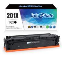 INK E-SALE Replacement for HP CF400X HP 201X HP CF400A Black Toner Cartridge for use with HP Color Laserjet Pro MFP M277dw M252dw MFP M277n M252n Printer, 1 Pack