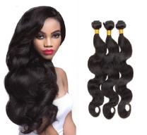 Wendy Hair 8A Brazilian Body Wave Hair Extensions Full Ends 3 Bundles 12 14 16 inch Double Weft Natural Black Hair Weave 300g