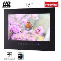 "Soulaca 19"" IP66 Waterproof Black LED Frame Less Bathroom TV T190FS-B"