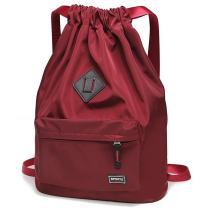 Peicees Waterproof Drawstring Sport Bag Lightweight Sackpack Backpack for Men and Women