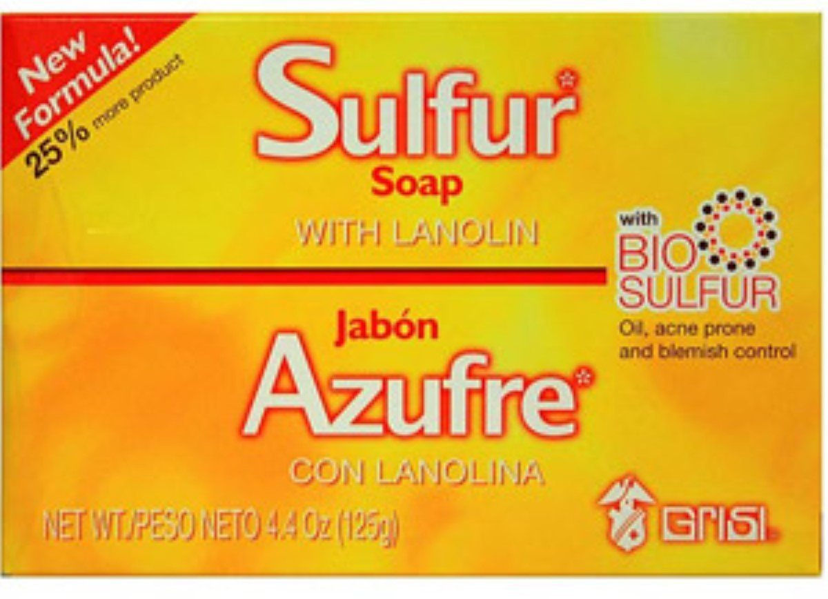 Grisi Bio Sulfur Soap with Lanolin, 4.4 oz by Grisi