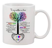 Ceramic Coffee Mug - To My Mother in Law Tree Heart Rainbow Sweet Sayings Birthday, Mother's Day, Christmas, Anniversary, gift