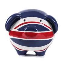 Minigift Large Ceramic Piggy Bank, Pig Coin Bank,Money Box - British Flag