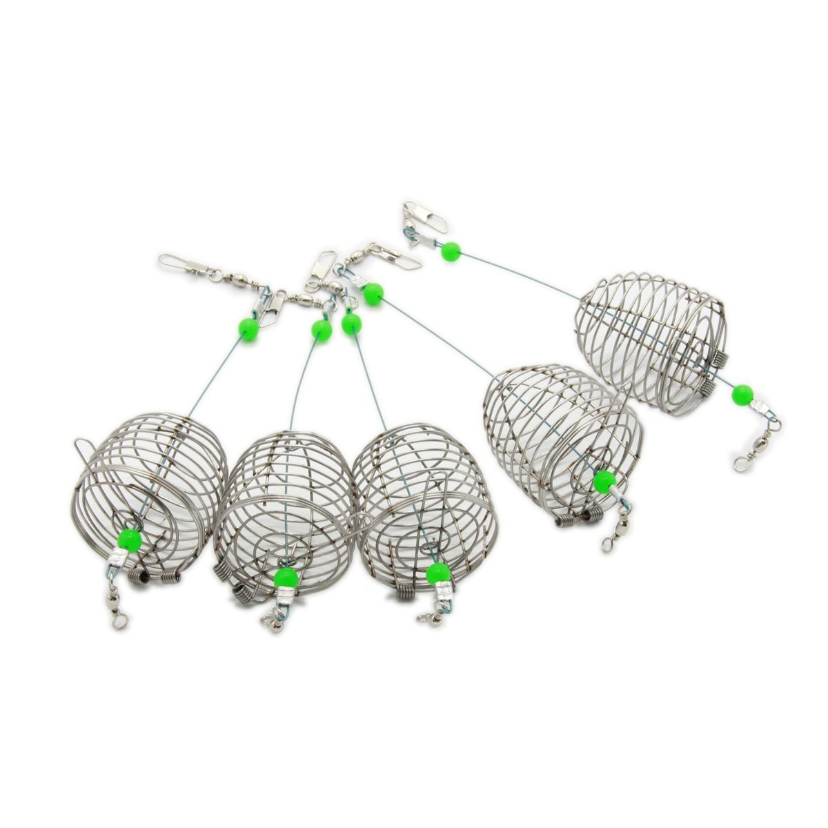 bouti1583 Fishing Bait Trap Cage Feeder Basket Holder Lure Fish Accessories 5 Pcs