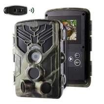 Crenova Trail Camera-WiFi 20MP 1080P Wildlife Hunting Game Camera with Night Vision Motion Activated for Outdoor Wildlife Monitoring Waterproof IP65