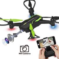 Dwi Dowellin Mini Drone with Camera HD Live Video FPV RC Quadcopter Custom Flight Route Auto Hovering One Key Take Off Spin Flips Rolls Drones Toys for Kids Beginners Adults Boys and Girls