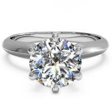 Lemon Grass 3 Ct Round Cut Diamond Solitaire Engagement Ring Sterling Silver White Gold Plated Size 5-8