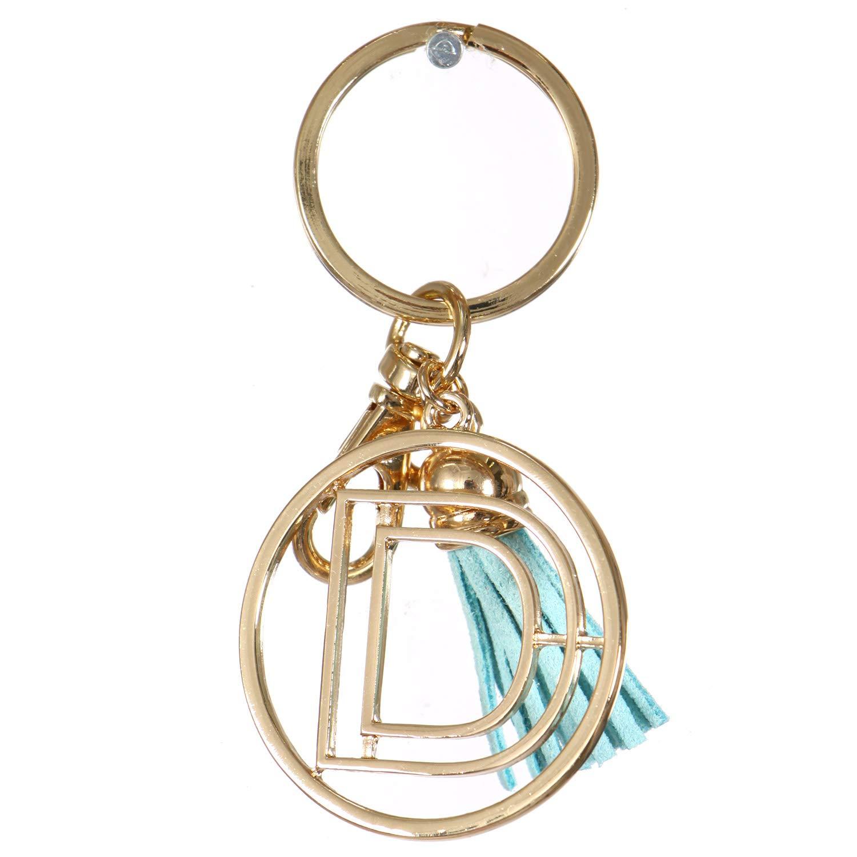 Keychains for Women. Cute Keychain. Initial Letter Charms. Monogram Keychain. Enamel Tasseled. Llaveros