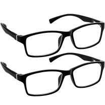 Computer Reading Glasses 1.50 Black 2 Pack Protect Your Eyes Against Eye Strain, Fatigue and Dry Eyes from Digital Gear with Anti Blue Light, Anti UV, Anti Glare, and are Anti Reflective