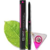 Best Cruelty Free Waterproof Eyeliner Pencil with Sharpener - All Day Smudgeproof Wear - Easy to Use & Perfect Eye Liner for Your Cat Eyes & Waterline - Immovable by Mia Adora Makeup (Black)