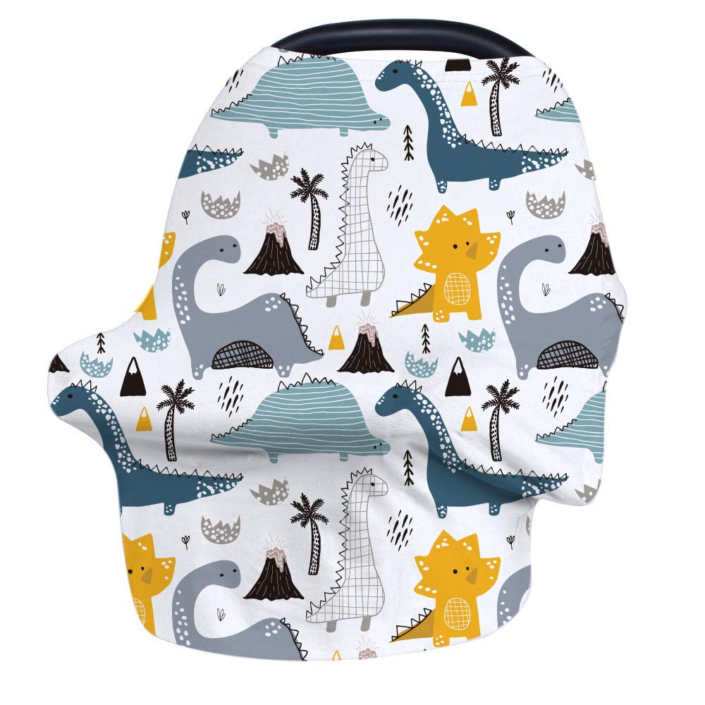 Nursing Cover Breastfeeding Cover, Stretchy Car Seat Cover for Babies, Soft Breathable Infant Carseat Canopy, Shopping Cart/High Chair/Stroller Covers, Baby Shower Gifts