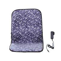 WOOLALA Heating Pad for Home, Adjustable Temp Heated Mat Office Chair Cushion with Heat Therapy for Back Lumbar Hip Thigh, 24V Low Voltage/Washable/Infrared Fast Heat Up