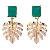 Lateefah Acrylic Leaf Earrings For Women Dangle Drop Statement Lightweight Earrings Vintage Bohemian Earrings Jewelry Gift