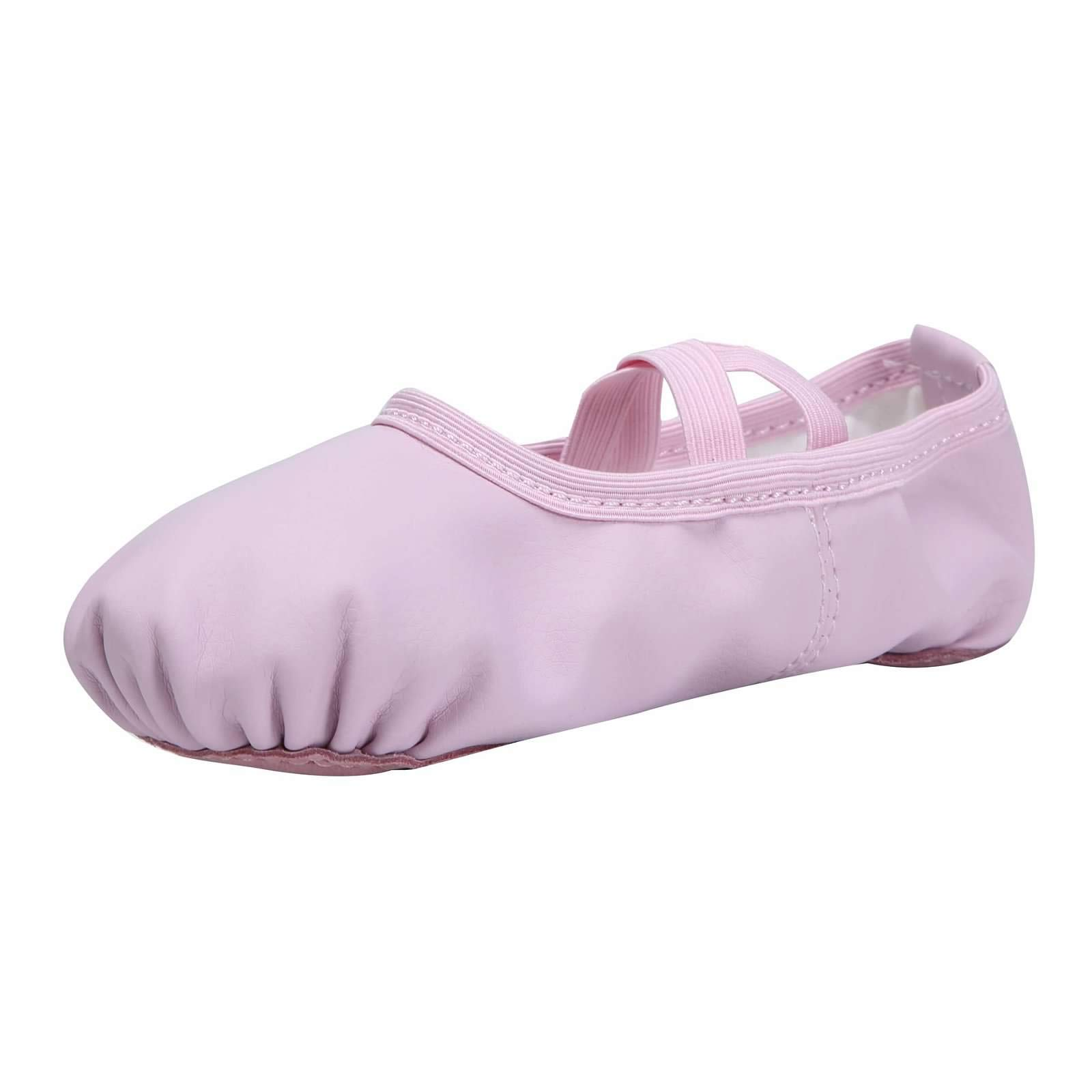 Linodes PU Leather Ballet Shoes/Ballet Slippers/Dance Shoes (Toddler/Baby Girl/Little/Big Kid)