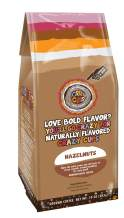 Crazy Cups Flavored Ground Coffee, Hazelnuts, in 10 oz Bag, For Brewing Flavored Hot or Iced Coffee