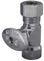 Keeney 2058PCLF 1/2-Inch FIP by 3/8-Inch O.D. Lead Free Quarter Turn Straight Valve, Chrome