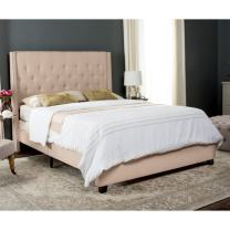 Safavieh Home Collection Winslet Light Beige & Espresso Bed, Twin