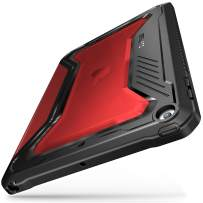 Infiland iPad 9.7 Case 2018/2017, Full-Body Shockproof Smart Tri-fold Cover with Auto Sleep Wake Compatible with iPad 9.7 5th, 6th Generation (Red)