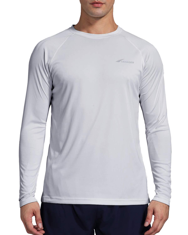 Men's Sun Protection Shirt UV Outdoor Performance Long Sleeve T-Shirt for Hiking Fishing