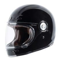 TORC T1 Unisex-Adult Retro Full-face-Helmet-Style Motorcycle (Gloss Black, Medium)